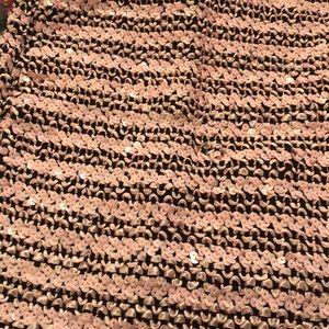 Sequined skirt.